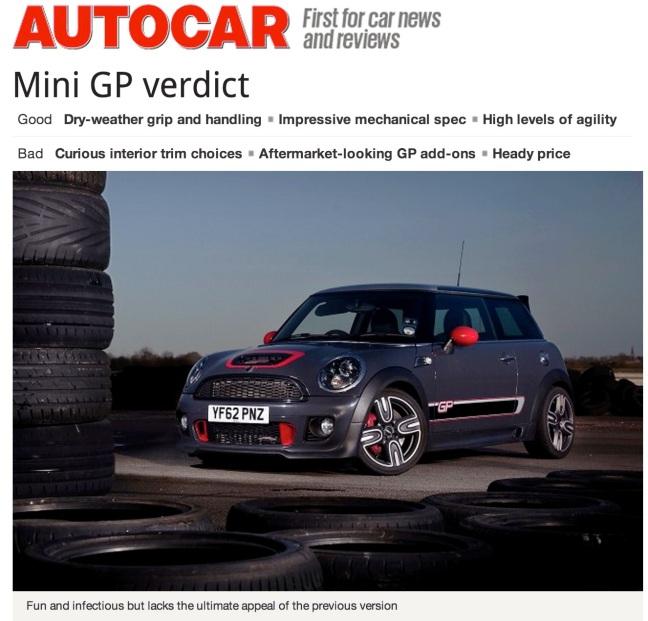 AutoCar GP 2013 review
