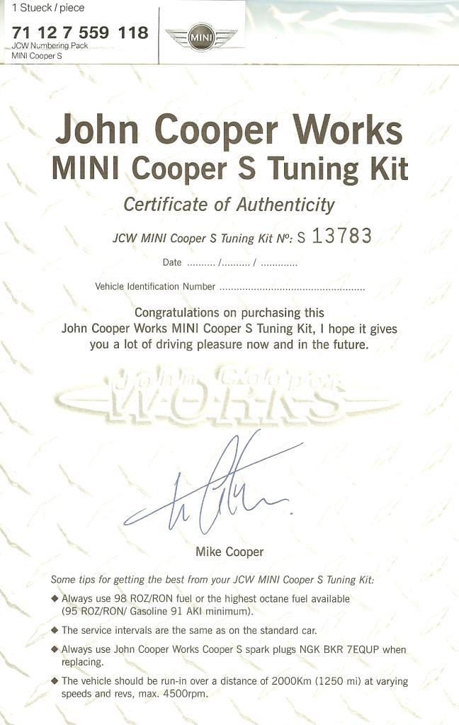 jcw gp certificate  u2013 gpmini net